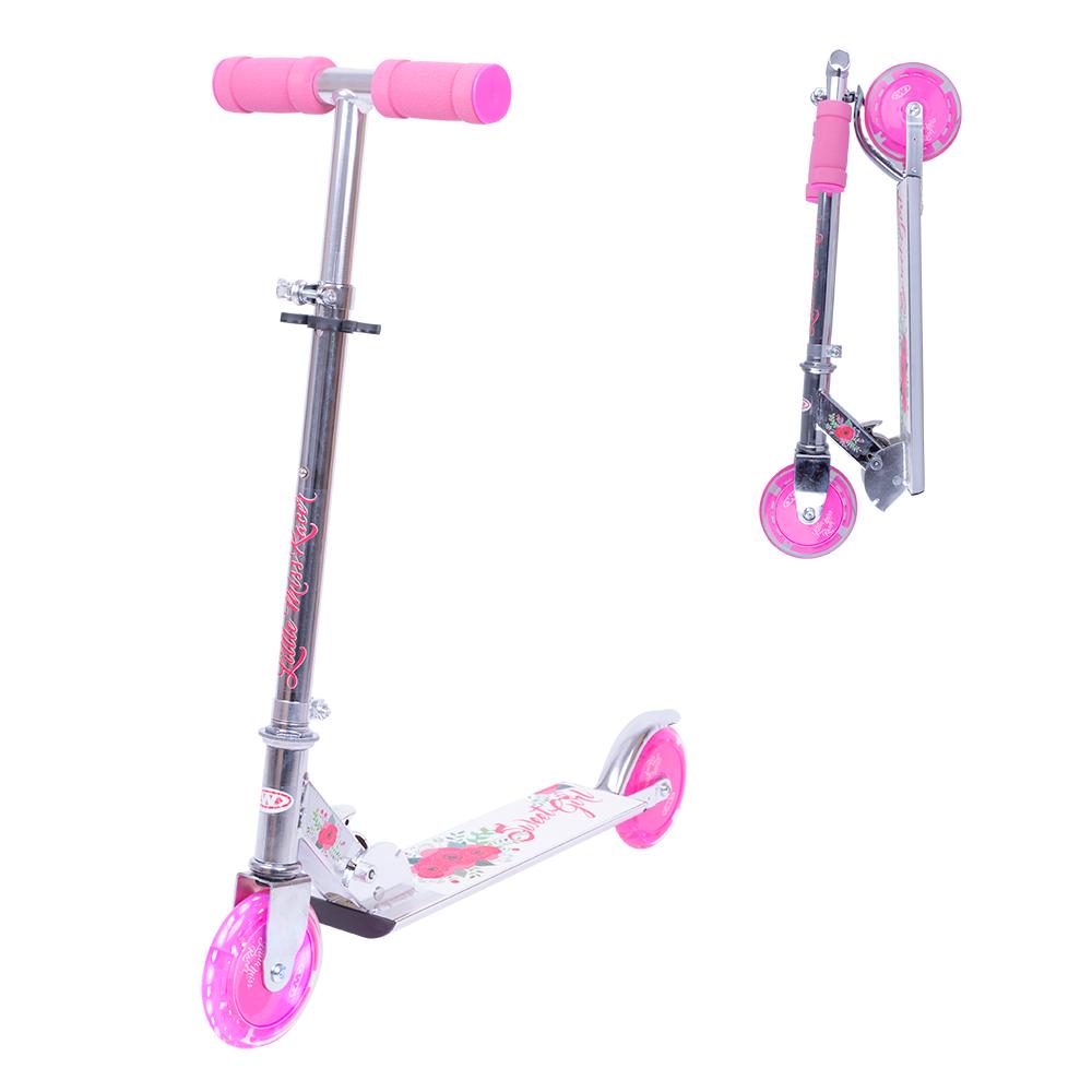 44bf7bd7800 Тротинетка WORKER Racer Sweet Girl със светещи колела - inSPORTline