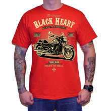 облекло BLACK HEART Тениска Harley Red