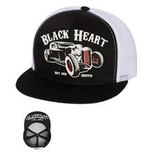 Шапка BLACK HEART Rat Rod Trucker - бяло