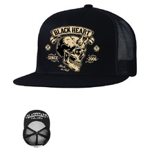 Шапка BLACK HEART Devil Skull Trucker - черен