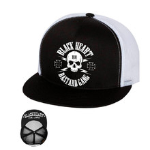 Шапка BLACK HEART Bastard Skull Trucker - бяло